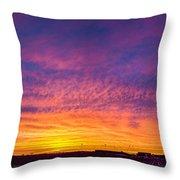 December Nebraska Sunset 004 Throw Pillow