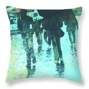 December Rain In Nurnberg Throw Pillow