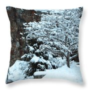 December Snows Throw Pillow