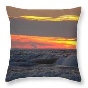 December Swells 6 Throw Pillow