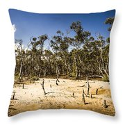 Deception Bay Conservation Park Throw Pillow