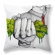 Deception Of Greed Throw Pillow