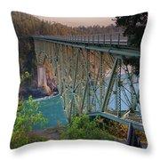 Deception Pass Bridge Br-8943 Throw Pillow