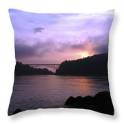 Deception Pass Sunrise Throw Pillow