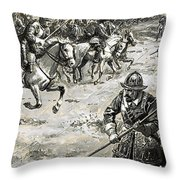 Decisive Battles  Where King Charles Lost His Crown Throw Pillow