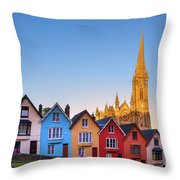 Deck Of Cards And St Colman's Cathedral, Cobh, Ireland Throw Pillow
