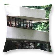 Deck View Fallingwater  Throw Pillow