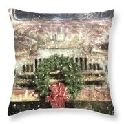 Decked Out For Christmas Throw Pillow