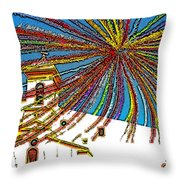 Decked Out For Fiesta Throw Pillow