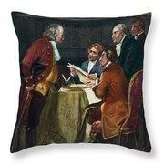 Declaration Committee Throw Pillow