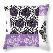 Deco Flower Patchwork 3 Throw Pillow