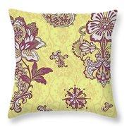 Deco Flower Yellow Throw Pillow