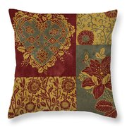 Deco Heart Earthtones Throw Pillow by JQ Licensing