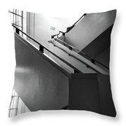 Deco Stairs Throw Pillow