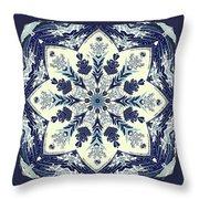 Deconstructed Sea Mandala Throw Pillow