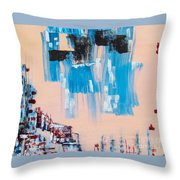 Wall District I Throw Pillow