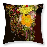 Decorated Amsterdam Bike Throw Pillow