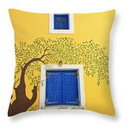 Decorated House Throw Pillow