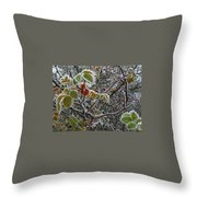 Decorated With Leaves Throw Pillow