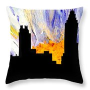 Decorative Abstract Skyline Atlanta T1115a1 Throw Pillow by Mas Art Studio