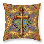 Decorative Cross Throw Pillow