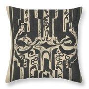 Decorative Design, Carel Adolph Lion Cachet, 1874 - 1945 H Throw Pillow