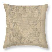 Decorative Design, Carel Adolph Lion Cachet, 1874 - 1945 U Throw Pillow
