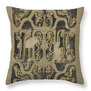 Decorative Design, Carel Adolph Lion Cachet, 1874 - 1945 Vq Throw Pillow