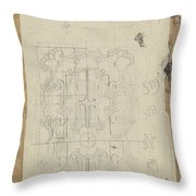 Decorative Design, Carel Adolph Lion Cachet, 1874 - 1945 W Throw Pillow
