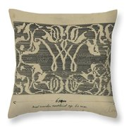Decorative Design In National Colors, Carel Adolph Lion Cachet, 1874 - 1945 Throw Pillow