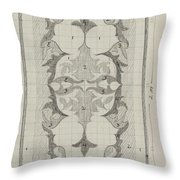 Decorative Design With Color Indications, Carel Adolph Lion Cachet, 1874 - 1945 Throw Pillow