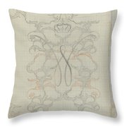 Decorative Design With Crowned W, Carel Adolph Lion Cachet, 1874 - 1945 Throw Pillow