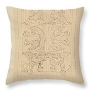 Decorative Design With Eight Seated Women, Carel Adolph Lion Cachet, 1874 - 1945 Throw Pillow
