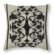 Decorative Design With Fish, Carel Adolph Lion Cachet, 1942 Throw Pillow