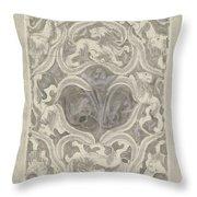 Decorative Design With Leaf Motif, Carel Adolph Lion Cachet, 1874 - 1945 Throw Pillow