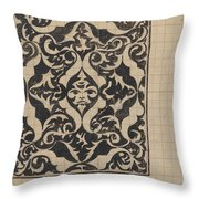 Decorative Design With Mask, Carel Adolph Lion Cachet, 1874 - 1945 Throw Pillow