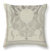 Decorative Design With Stylized Lions, Carel Adolph Lion Cachet, 1874 - 1945 Throw Pillow