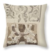 Decorative Designs With Seated Figures, Carel Adolph Lion Cachet, 1874 - 1945 Throw Pillow