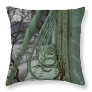 Decorative Foot Bridge Throw Pillow