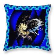 Decorative Fractal Tile 3 Throw Pillow