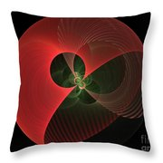 Decorative Globe Of Red Throw Pillow