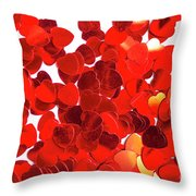 Decorative Heart Background Throw Pillow