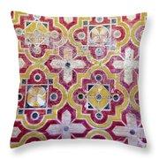 Decorative Tiles Islamic Motif  Throw Pillow
