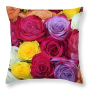 Decorative Wallart Brilliant Roses Photo A41217 Throw Pillow by Mas Art Studio