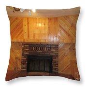 Decorative Woodworking Throw Pillow