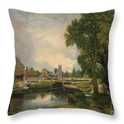Dedham Lock And Mill Throw Pillow