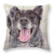Dedicated Dog Throw Pillow