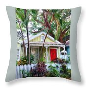 Dee Dee's Cottage Throw Pillow