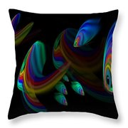Deep Blue 2 Throw Pillow