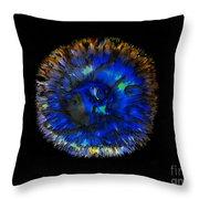 Deep Blue Throw Pillow